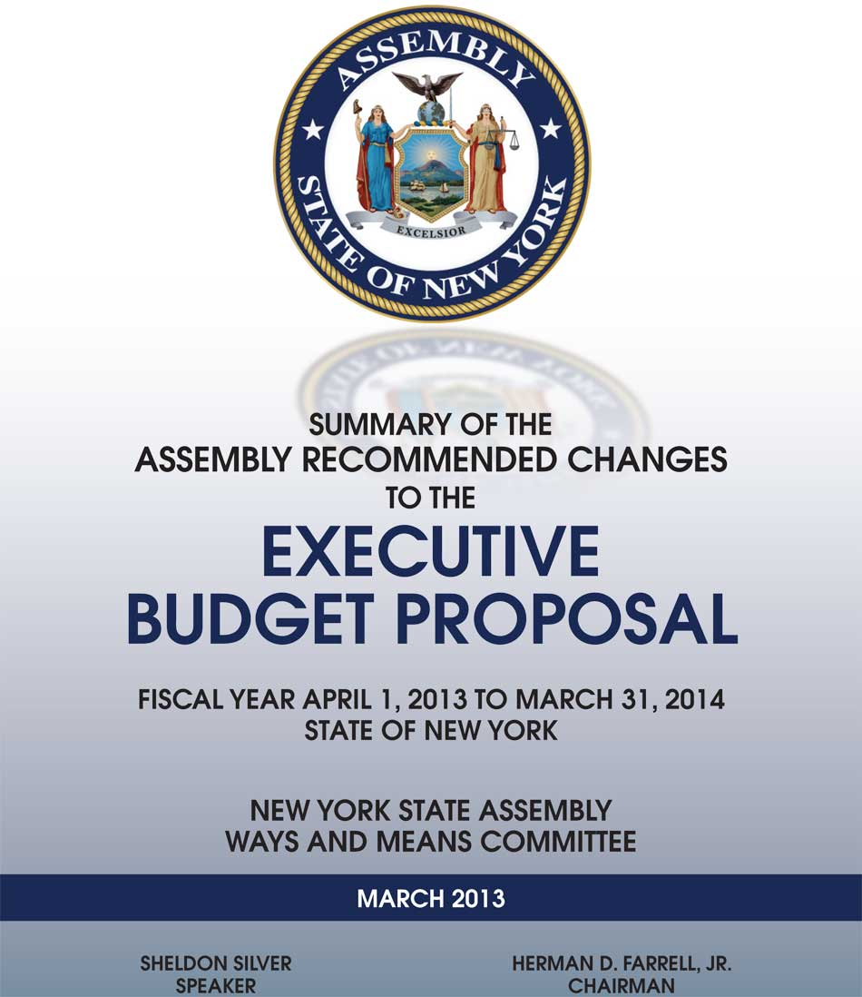 ... of the Assembly Recommended Changes to the Executive Budget Proposal