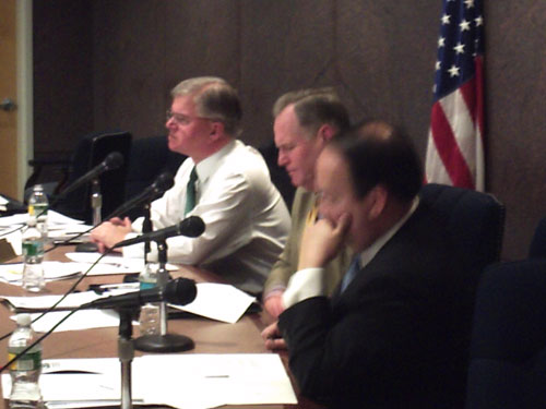 Assemblyman Fred W. Thiele, Jr. is pictured at a public hearing that he chaired as a member of the Assembly Ways and Means Committee on the 2009-10 State Budget.
