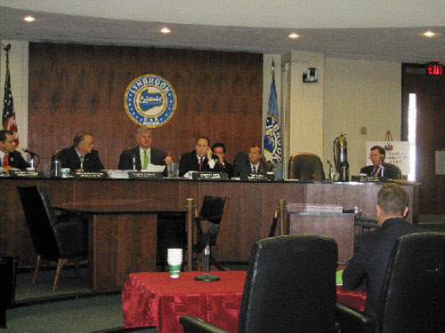 Assemblyman Fred W. Thiele, Jr. speaks at a hearing on the Long Island Power Authority.