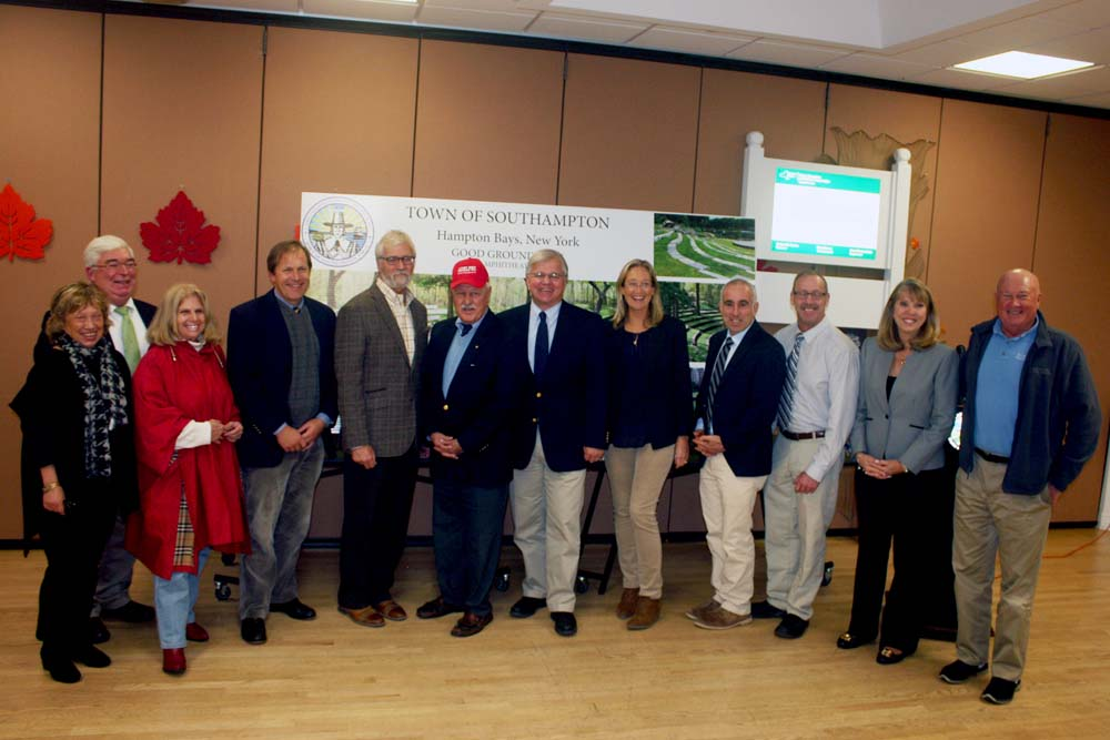 Assemblyman Fred W. Thiele, Jr. joined Senator Ken LaValle and Southampton Town officials at the Hampton Bays Community Center to announce they have secured an additional $1 million to help support th
