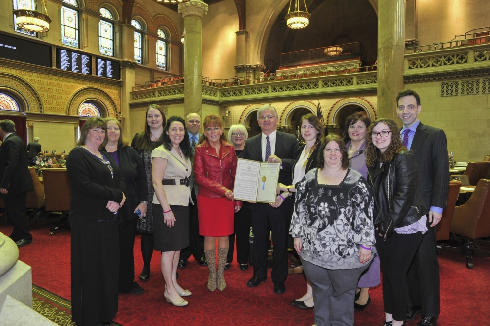 New York State Assemblyman Fred W. Thiele, Jr. (I, D, WF, WE-Sag Harbor) welcomed representatives from the Lupus Agencies of New York State to the Assembly Chamber in Albany in recognition of Lupus Aw