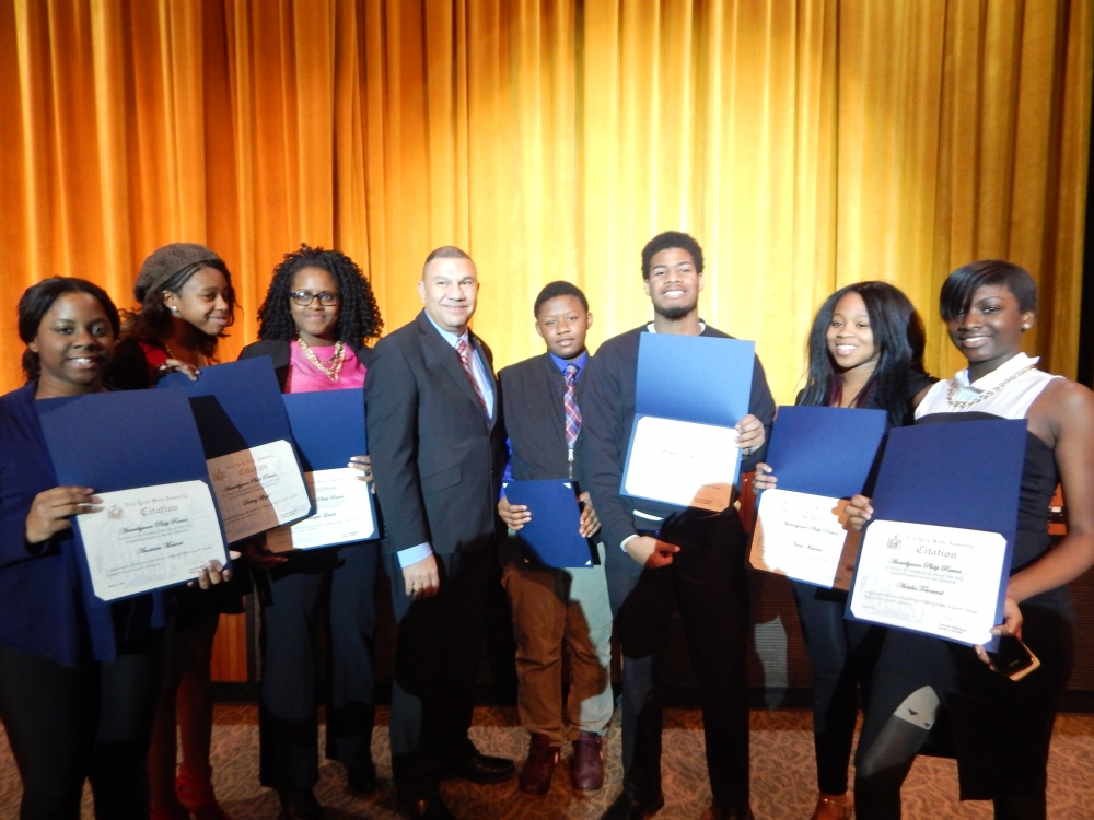 Assemblyman Phil Ramos was joined by the Herstory�s Writers Workshop and Central Islip Dynamic Dancers at the Brentwood South Middle School to commemorate the outstanding achievements of women at his 4th Annual Sixth Assembly District Women�s History Month celebration.