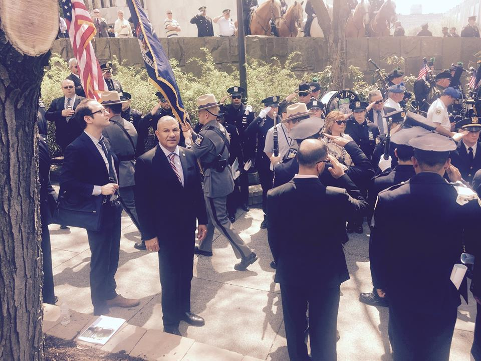 Assemblyman Ramos at the New York Police Officer Memorial Ceremony on May 5th acknowledging the contributions of officers that have lost their lives in their line of duty. <br><br>