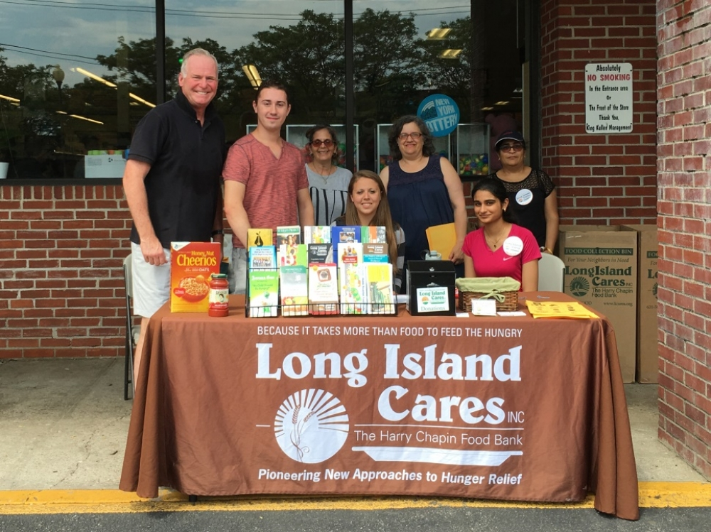 Assemblyman Michael Fitzpatrick (R,C,I,Ref-Smithtown) and volunteers were on hand at one of the food donation sites for his Summer Food Drive  for Long Island Cares.
