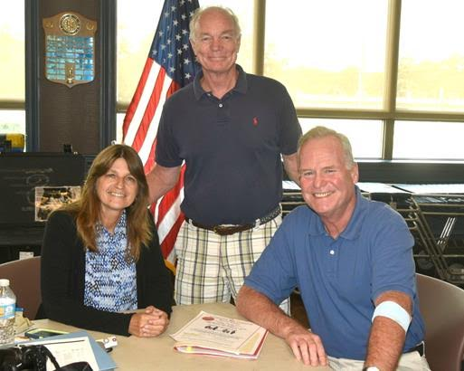 Pictured with Assemblyman Fitzpatrick (right) is Rosalie Hanson from the Assembly Minority Long Island Regional office (left) and Assistant Chief Bob Wind of the Hauppauge Fire Department (center) who helped to make the blood drive a success.