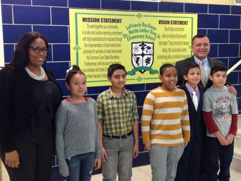 Assemblywoman Kimberly Jean-Pierre along with Town of Babylon Councilman Antonio A. Martinez met with the 5th grade Student Government at La Francis Hardiman School in Wyandanch.