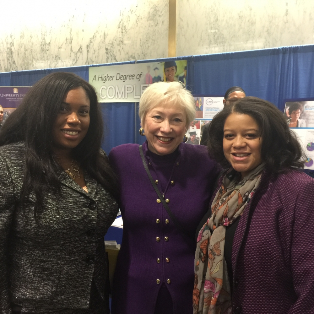 Assemblywoman Kimberly Jean-Pierre is joined by State University of New York Chancellor Nancy Zimpher and Assemblywoman Michaelle Solages (Left to Right).