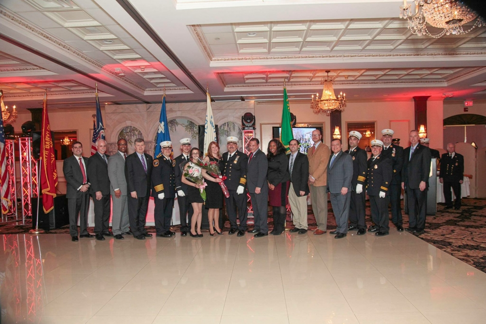 Assemblywoman Kimberly Jean-Pierre attended the North Babylon Volunteer Fire Company Installation Diner.