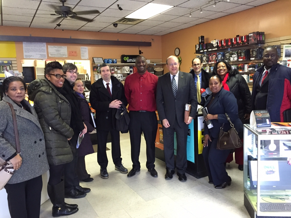 Assemblywoman Kimberly Jean-Pierre welcomed the NYS Department of Financial Services with a tour of Wyandanch. The agency was able to examine the revitalization process known as Wyandanch Rising, whic