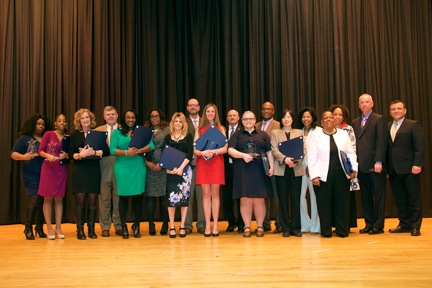 Assemblywoman Kimberly Jean-Pierre celebrates the Town of Babylon Women�s History Award ceremony as keynote speaker. She is joined by award winners, town officials and Presiding Officer DuWayne Gregor