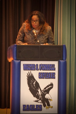 Assemblywoman Kimberly Jean-Pierre was honored to be the keynote speaker at the Town of Babylon Women�s History Ceremony. The Assemblywoman spoke about her background and her road to becoming an elect