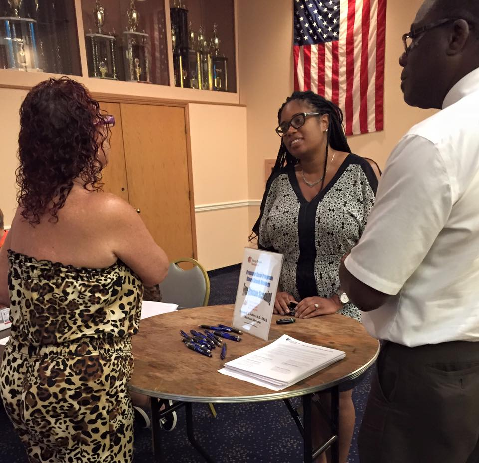 Assemblywoman KJP�s meets with a constituent at her Annual Prostate Screening
