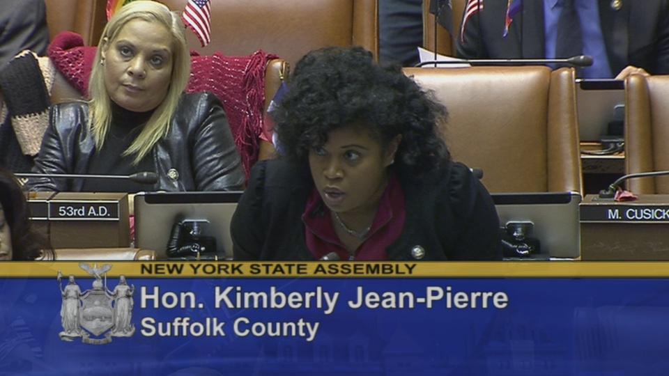 Assemblywoman Jean-Pierre Standing in Support of Paid Family Leave