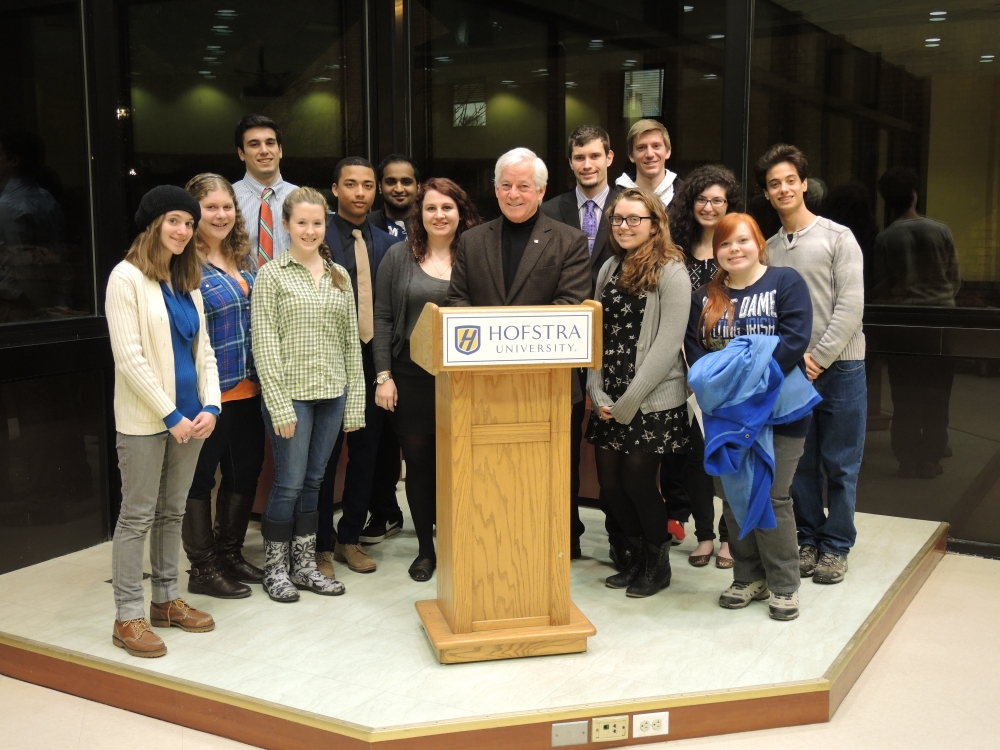 Assemblyman Charles Lavine paid a visit to Hofstra students for a lesson on �Albany 101� which included a presentation on the operations of state government, the state legislature, and the Assembly in particular. The event was held at Hofstra University.