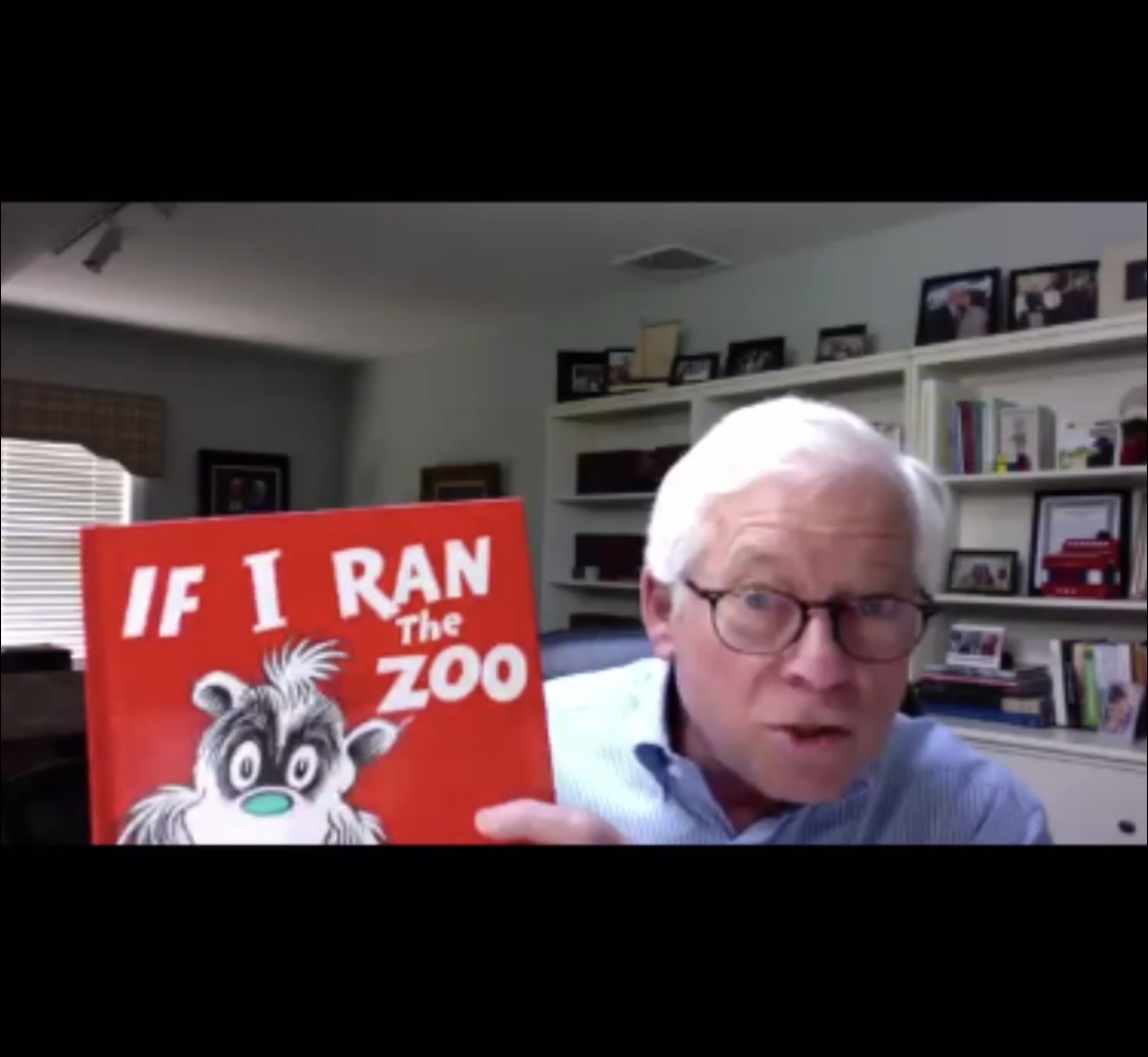 "Assemblymember Lavine reads ""If I Ran The Zoo"" by Dr. Seuss for virtual Storytime in partnership with The Bryant Library."