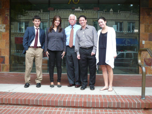 On conclusion of his summer intern program for 2010, Assemblyman Charles D. Lavine said, �One of the highlights of my summer months is the opportunity to work with interns who have a desire to pursue a career in government or politics. This year, Max, Michelle, Joshua, Shara and Michelle filled my office with interesting and insightful conversation and discussion. I enjoyed the intern program very much and in the end, I believe I learned more from our five interns than they could have learned from me.� Assemblyman Lavine is pictured with interns Max Lubin of Great Neck, Michelle Vita of Jericho, Joshua Garay of Jericho and Shara Scottland of Jericho. Not pictured is Michelle Zar of Woodbury.