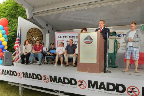 Assemblyman McDonough joins Senator Chuck Fuschillo and Nassau County Executive Ed Mangano at a Mothers Against Drunk Driving (MADD) awareness event.