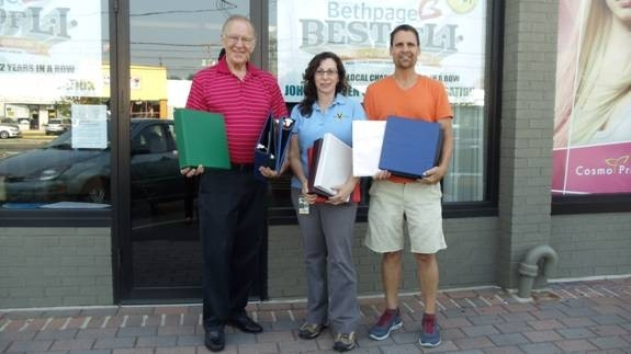 Pictured (left to right): Assemblyman Dave McDonough, Tobi Innerfield and John Theissen with supplies donated to the assemblyman�s Annual School Supply Collection Drive.
