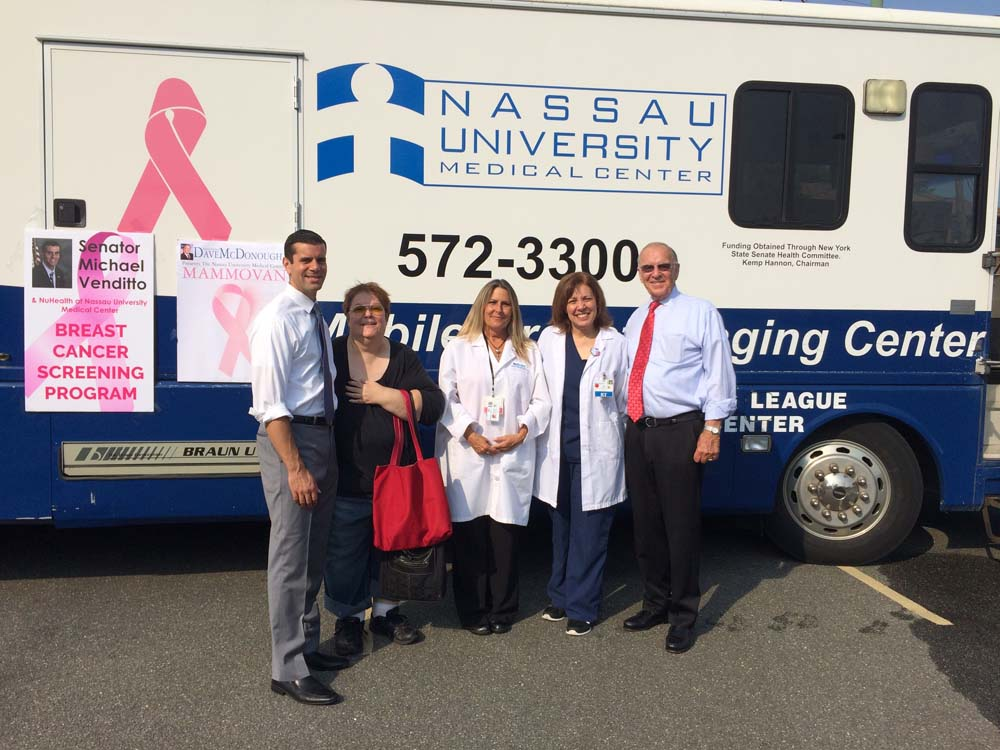 Senator Michael Venditto and I sponsored a mobile mammogram van at the Merrick Library on September 3, 2015. I want to thank NuHealth for providing the van and technologist for this important informative service.