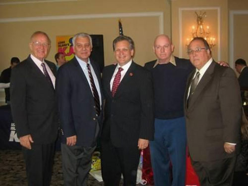 Pictured, left to right, Assemblyman David McDonough, Supervisor of the Town of Oyster Bay John Venditto, Nassau County Executive Edward Mangano, Major Chuck Kilbride and