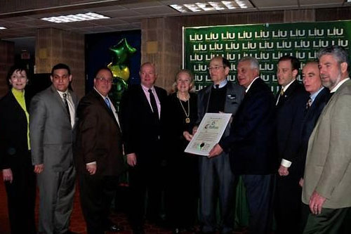 Assemblyman Michael Montesano (R, I, C � Glen Head) joined state Senator Lee Zeldin, Oyster Bay Town Supervisor John Venditto and other state and local dignitaries at Long Island University President Dr. David Steinberg�s rebranding of LIU Post.