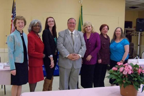 Assemblyman Michael Montesano with six of the eight 2012 Women of Distinction honorees.