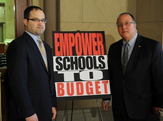 Assemblyman Michael Montesano joins Minority Ranker of the Assembly Education Committee, Assemblyman Ed Ra (R-Franklin Square), at today's press conference in Albany.