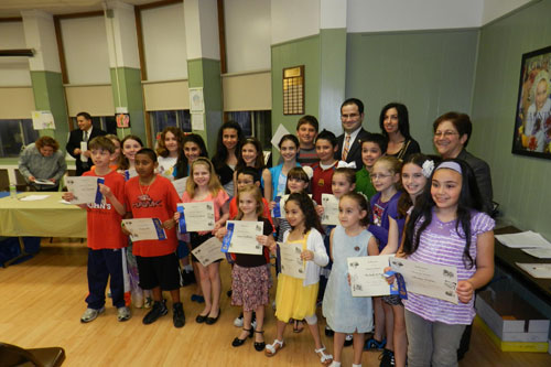 At Washington Street School I had the opportunity to gather with teachers and staff to honor the winners of this year's Reflections Contest.