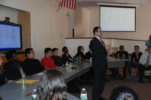I had the opportunity to share a little about what I do every day as your Assemblyman when I served as the guest speaker for the West Hempstead High School Model Congress. The students who partake in the model congress program learn about the lives and experiences of elected officials.