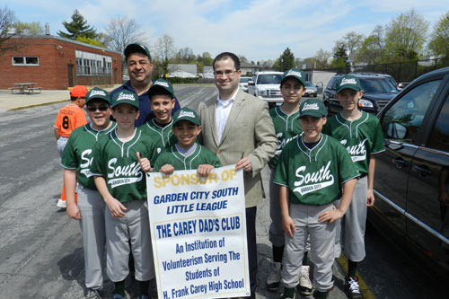 I recently had the honor of joining the boys from Garden City South Little League as they kicked off this year's season with an Opening Day Parade.