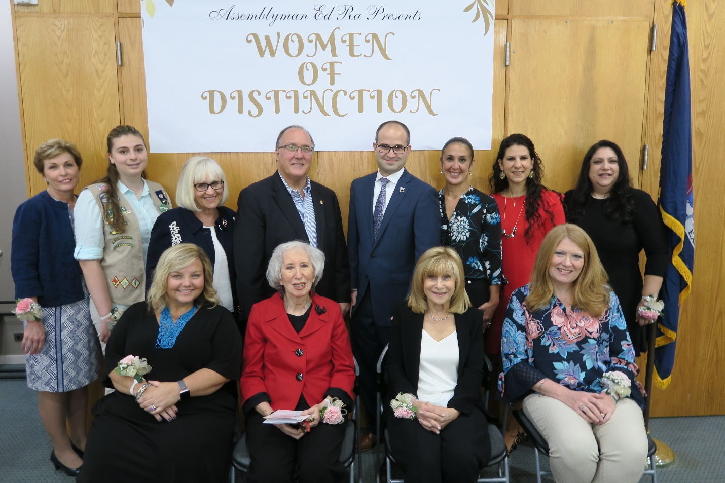 Assemblyman Ed Ra (R-Franklin Square) honored eight local women with his 2018 Women of Distinction Award on Saturday, October 6 at the Westbury Memorial Public Library. (From left to right, back row)