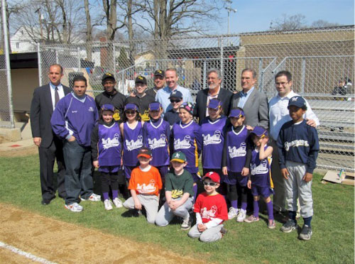 Ed with Franklin Square Little League.