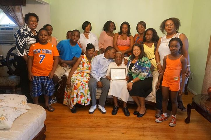 Assemblywoman Solages celebrates Elmont resident�s 100th birthday