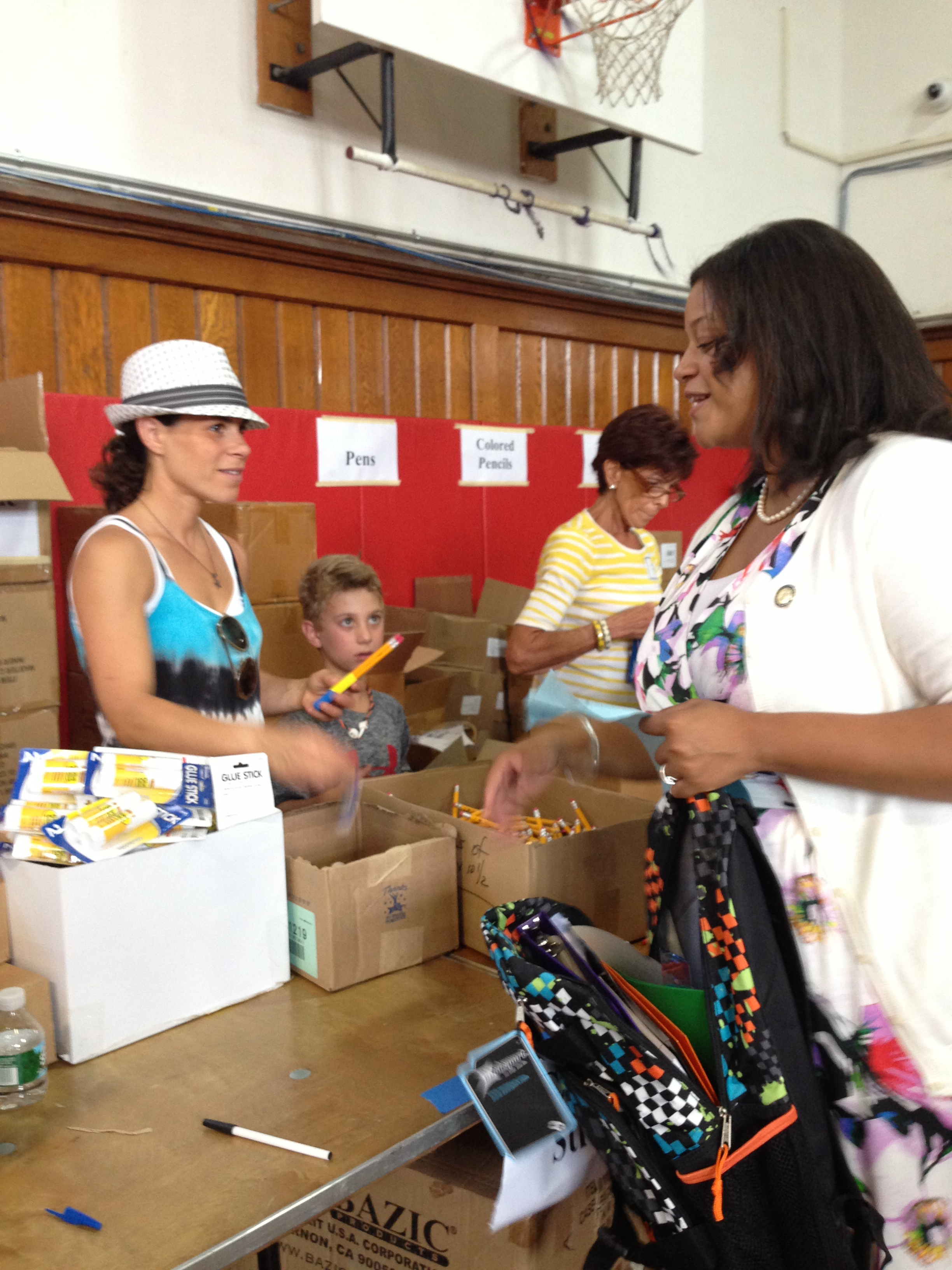 Assemblywoman Solages participates in the 12th annual Give Back with a Backpack back to school drive.