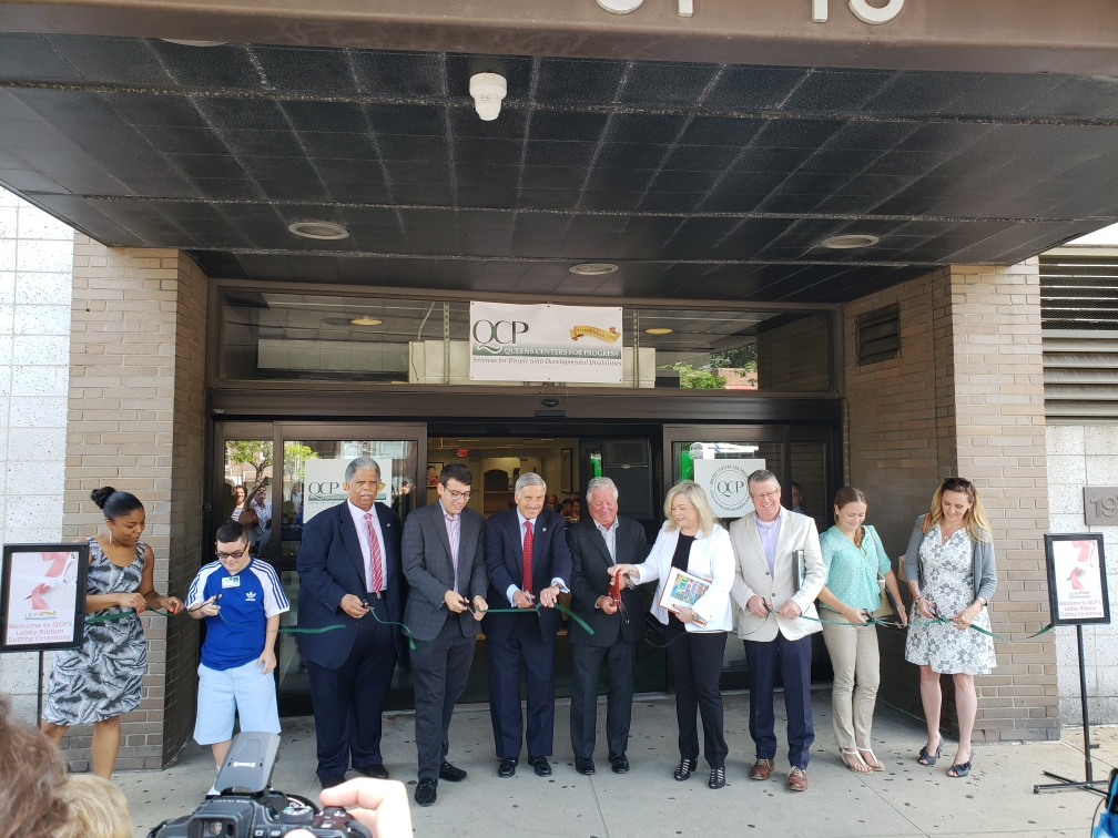 Assemblyman Weprin along with Senator Leroy Comrie and Assemblyman Daniel Rosenthal, cut the ribbon on QCP's renovation
