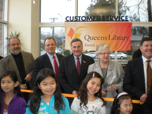 Assemblyman David Weprin at the grand re-opening of the Windsor Park Library on Friday February 25.