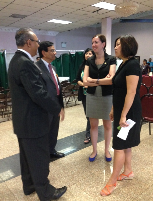 Assemblywoman Nily Rozic and Congresswoman Grace Meng attended the Gujarati Samaj of NY Health Fair in Flushing.