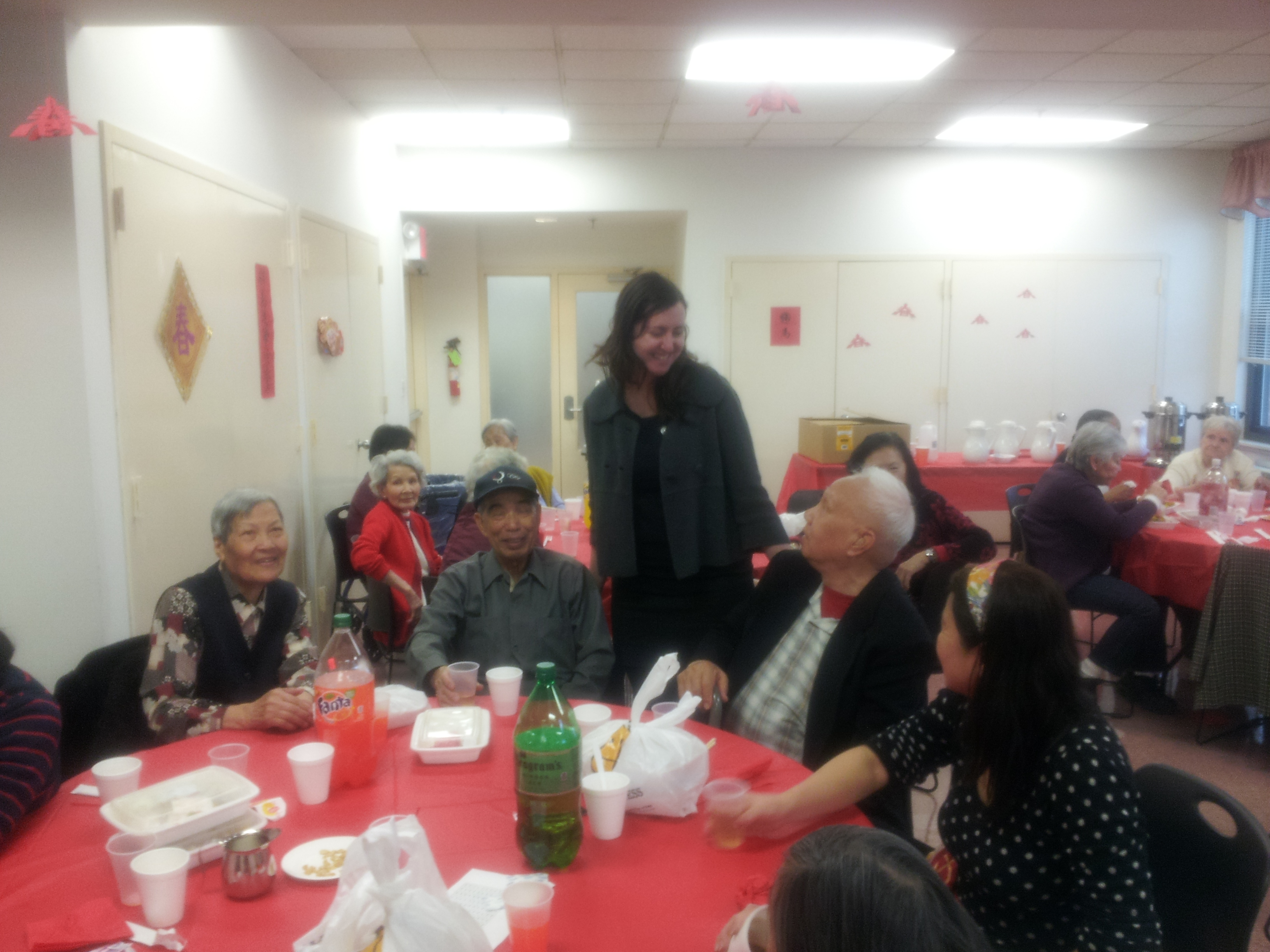 Assemblywoman Nily Rozic celebrates the Year of the Horse with seniors at Self Help Scheuer House in Flushing.