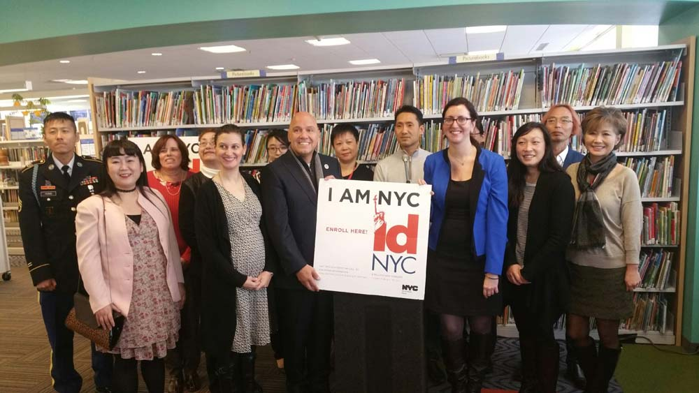 Assemblywoman Nily Rozic announced the launch of an IDNYC pop-up site at the Queens Library at Bayside.<br />