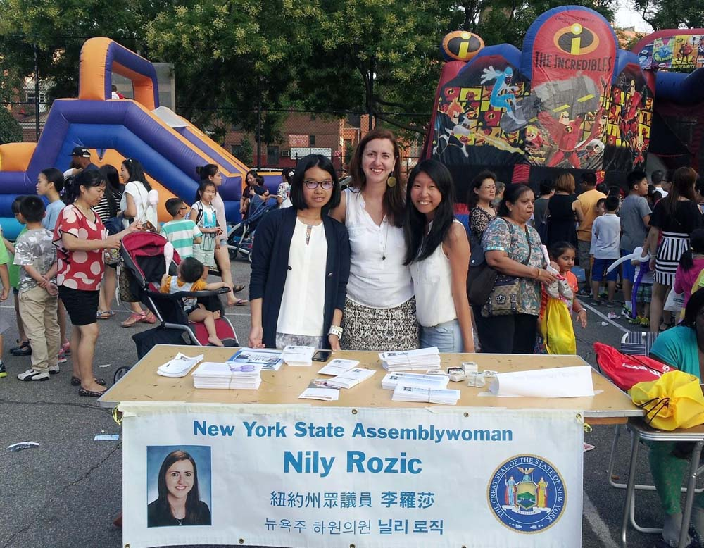 Assemblywoman Nily Rozic celebrated National Night Out Against Crime with the 107th, 109th, and 111th Precincts, commending police officers and community leaders for keeping Queens safe.