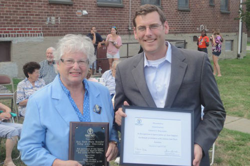 On Thursday, August 4, 2011, Assemblyman Braunstein attended the Samuel Field Y Autism Awareness BBQ & Community Festival, pictured here with Senator Toby Ann Stavisky.