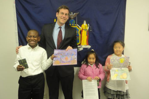 Congratulations to the winners of Assemblyman Braunstein's Halloween Essay and Drawing Contest 2011: 5th Grade Grand Prize Winner, Parker Stephenson; 3rd Grade Grand Prize Winner, Cheryl Lam; and 2nd Grade Grand Prize Winner, Joelle Chang.