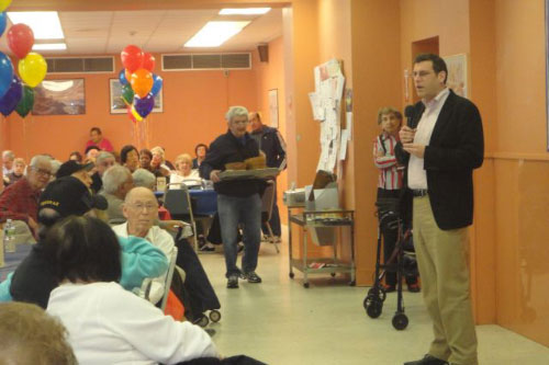 On February 17, 2012, Assemblyman Braunstein attended the Open House at the New Innovative SNAP of Eastern Queens Senior Center with SNAP President/CEO Linda Leest.
