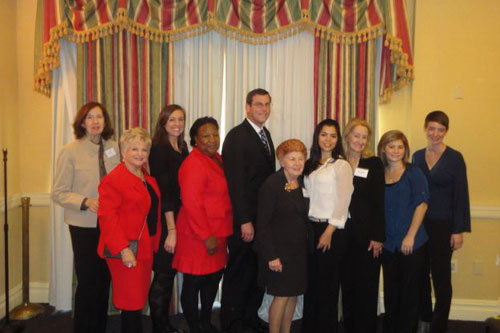 Assemblyman Braunstein spoke at the Center for the Women of New York's Conference and Job Fair where attendees were provided with employment assistance from a distinguished panel, pictured here with the Founder and Chair of the Board of Directors, Ann Jawin.