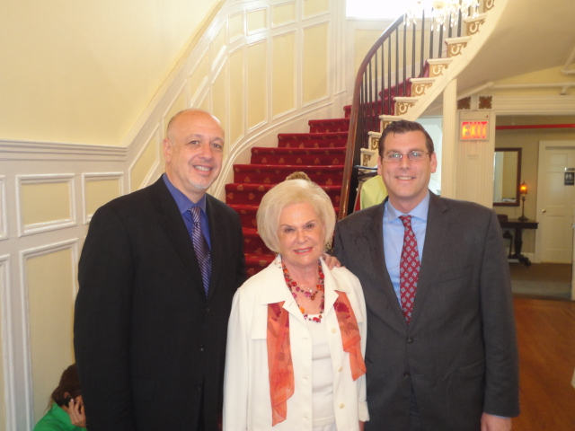 On Thursday, May 9, 2013, Assemblyman Braunstein attended the Transitional Services for New York's Spring Luncheon. Assemblyman Braunstein is pictured here with Dr. Larry Grubler, Chief Executive Officer and Dr. Sandra Delson, Director of Public Affairs & Development.