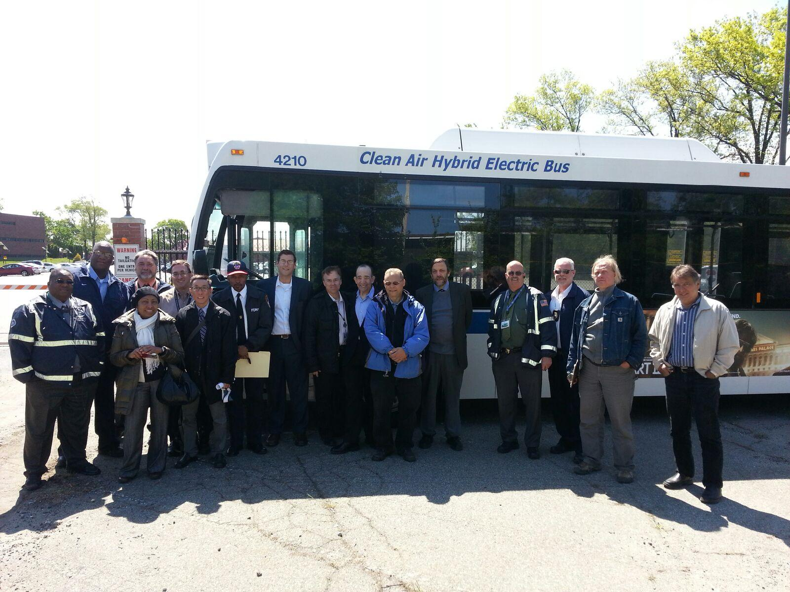 On Tuesday, May 14, 2013, Assemblyman Braunstein joined community leaders and agency and elected official representatives at Fort Totten to discuss the feasibility of the Q13 and Q16 bus route to continue to use Fort Totten as a turn around point despite the construction taking place there.