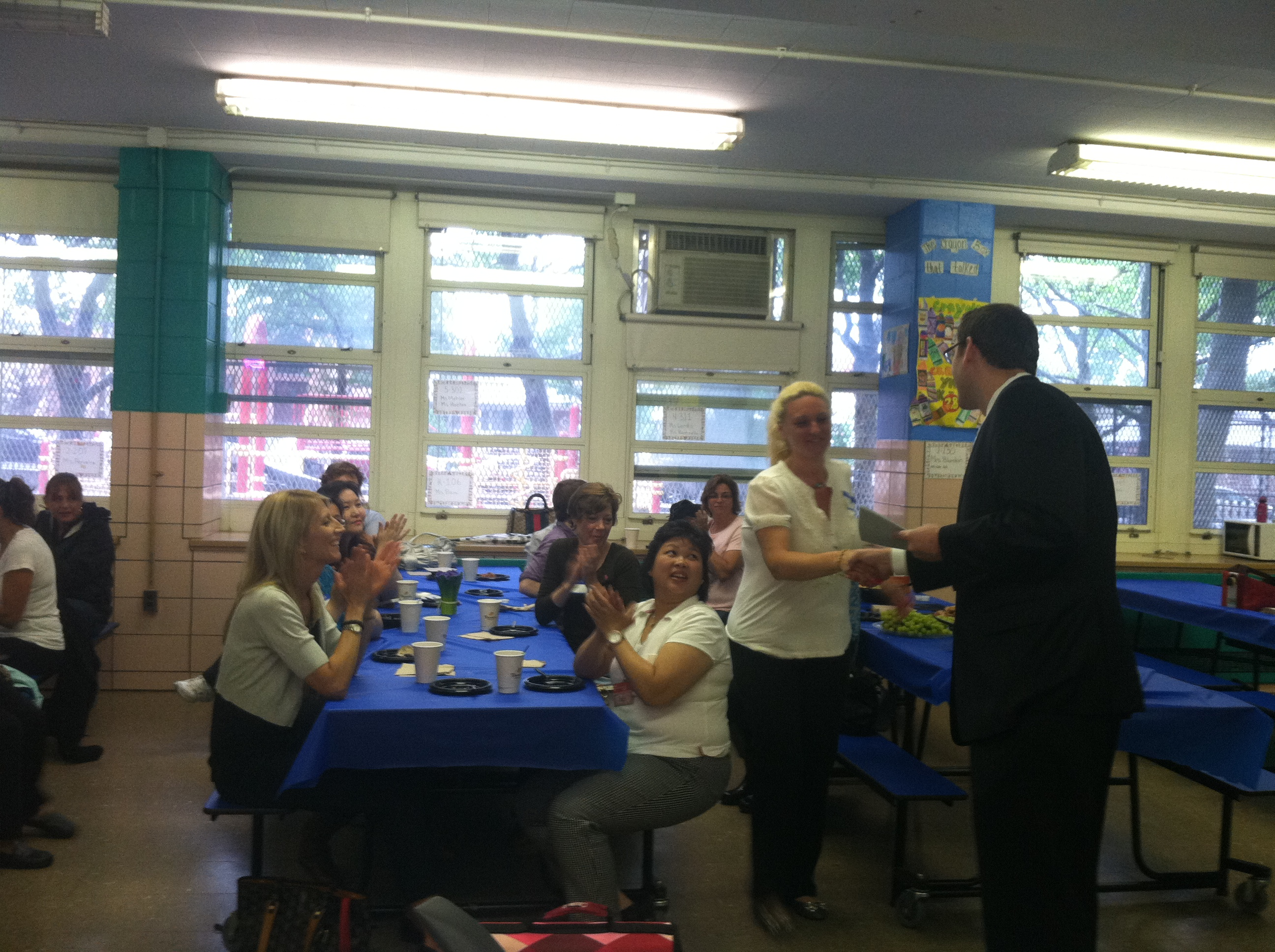 On Friday, June 7, 2013, Assemblyman Braunstein presented certificates to the parent volunteers of Public School 209 in Whitestone.