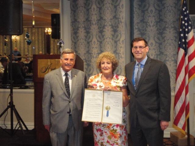 On Friday, June 28, 2013, Assemblyman Braunstein attended Services Now For Adult Persons, Inc.'s (SNAP) 33rd Anniversary Gala Luncheon to present a New York State Assembly Resolution to Dr. Linda Leest, CEO and President of SNAP, for her 28 years of service to seniors in Northeast Queens. Assemblyman Braunstein is pictured here with Assemblyman David Weprin and Dr. Linda Leest, CEO and President of SNAP.