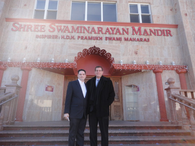 On Monday, November 4, 2013, Assemblyman Braunstein visited BAPS Shree Swaminarayan Mandir to attend a Diwali celebration. Assemblyman Braunstein is pictured here with Dilip Chauhan.
