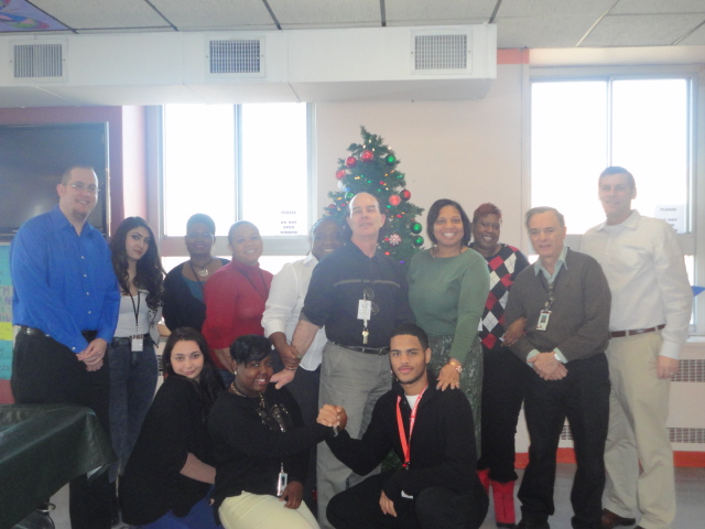 On December 19, 2013, Assemblyman Braunstein delivered donations from his annual Veterans' gift drive to the St. Albans Community Living Center of the VA New York Harbor Healthcare System, pictured here with staff and volunteers.